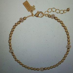 Kate Spade NWT Gold Ball Charm Bracelet